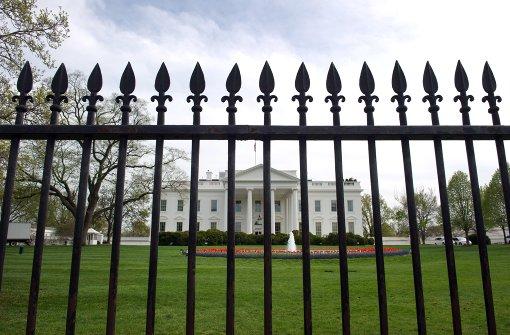 Weißes Haus in Washington abgesperrt