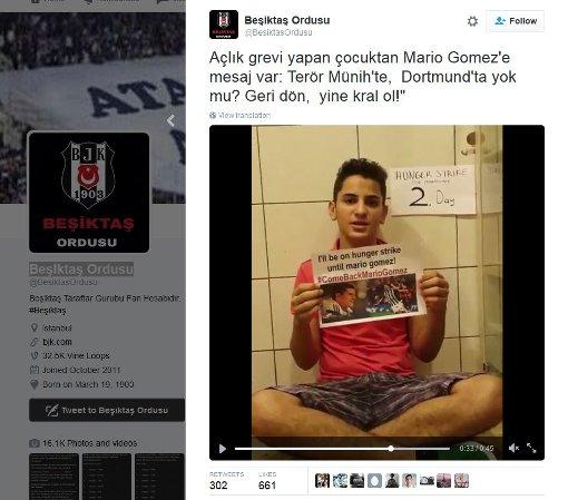 Hungerstreik soll Mario Gomez überzeugen