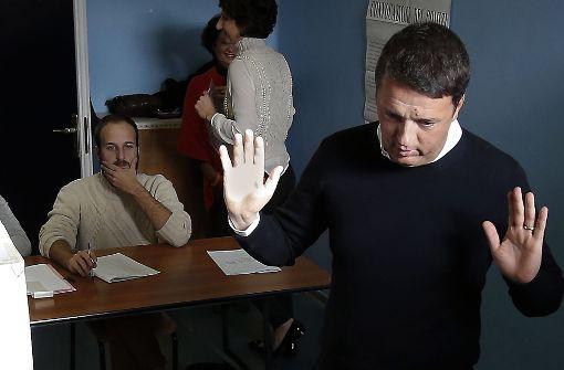 Ministerpräsident Renzi kündigt Rücktritt an