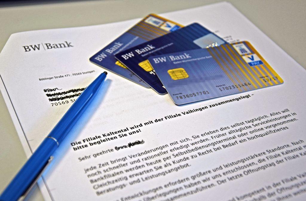 Bw Bank In Stuttgart Kaltental Gespräche Mit Dem Berater Nur Noch