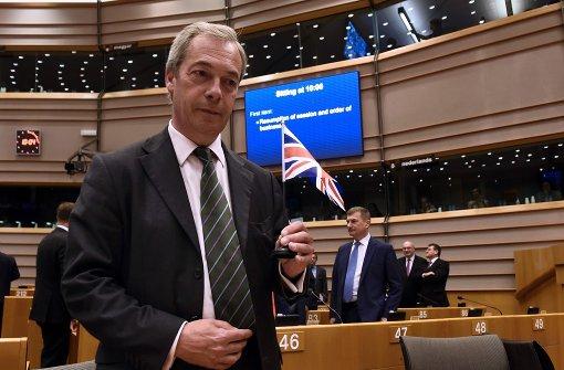 Buhrufe für Nigel Farage im Europaparlament