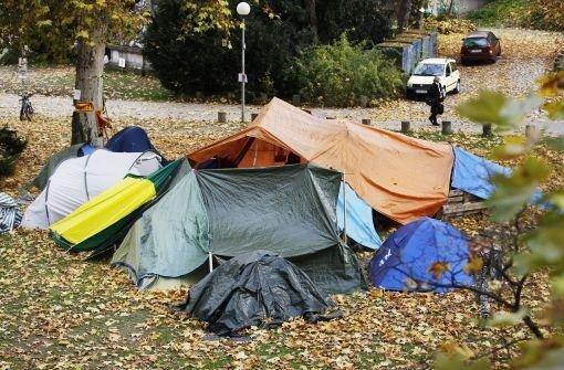 Kritik an Zeltlager im Schlossgarten