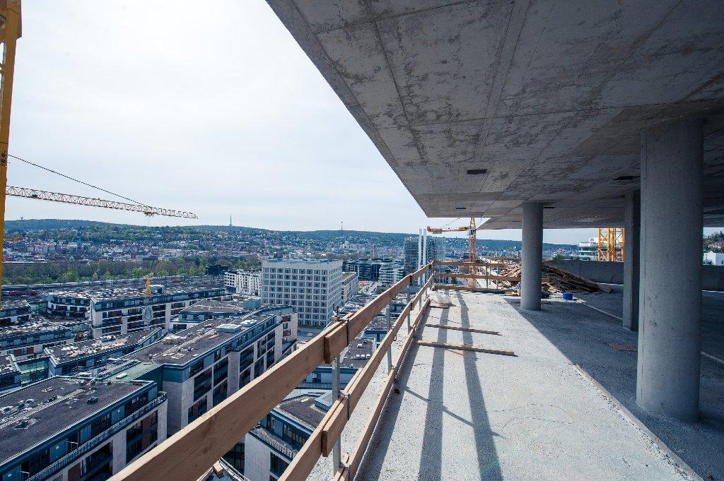Baustellen In Stuttgart Grandioser Blick Von Und Auf Cloud No 7