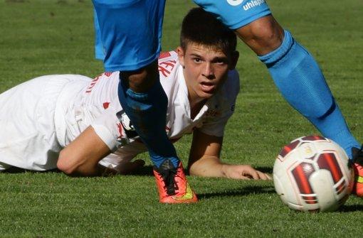 Zwei Tore im Derby gegen die Kickers: Marvin Wanitzek vom VfB II Foto: Baumann