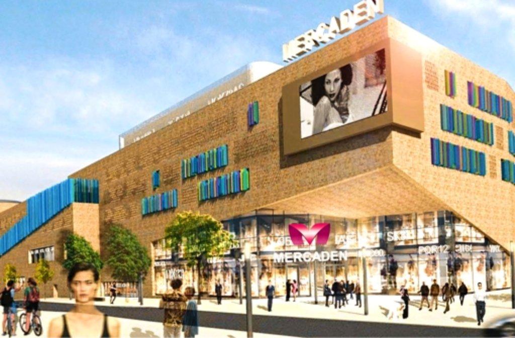 d8cd54d6e085d6 So soll der neue Einkaufstempel mit dem Namen Mercaden  Die 24.400  Quadratmeter Verkaufsfläche teilen sich