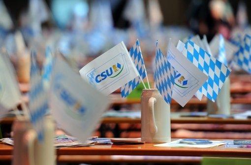 Die CSU-Bierkrüge bleiben am Aschermittwoch in diesem Jahr leer Foto: dpa