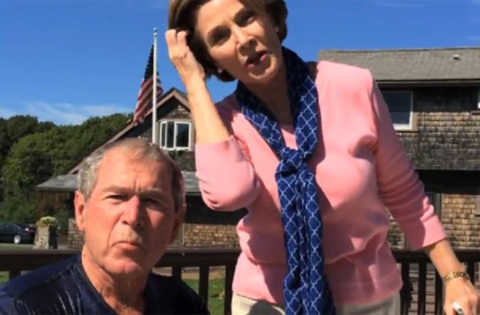 Ice Bucket Challenge: George W. Bush fordert Bill Clinton