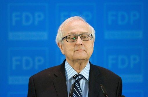 Rainer Brüderle  schweigt zu den Vorwürfen Foto: dpa