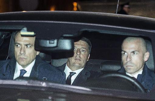 Rücktritt von Regierungschef Renzi