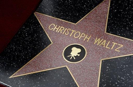 Christoph Waltz am Walk of Fame Ein Stern für Deutschland