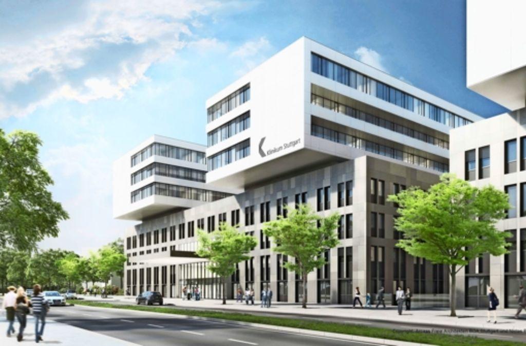 Katharinenhospital stuttgart baggerbiss f r neue klinik stuttgart stuttgarter nachrichten - Architekten kreis ludwigsburg ...