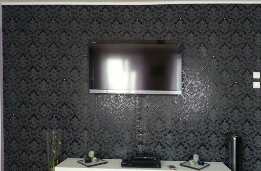 tapete schwarz wohnzimmer. Black Bedroom Furniture Sets. Home Design Ideas