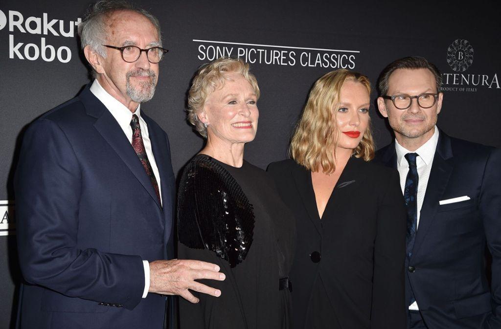 Filmepremiere Von The Wife Glenn Close Posiert Mit Tochter Annie