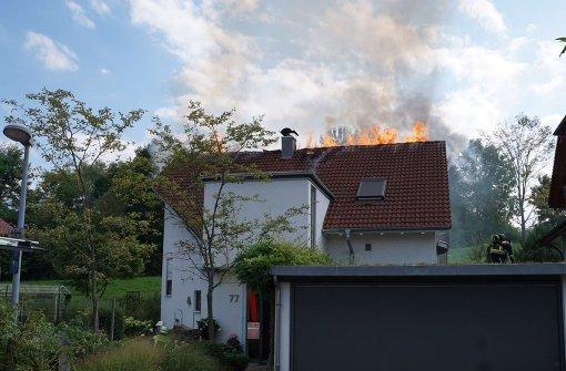 Dachstuhl fängt Feuer