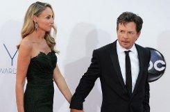 US-Schauspieler Michael J. Fox mit seiner Frau, der Schauspielerin Tracy Pollanbr  Foto: dpa