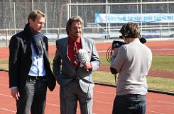 Hier ein paar Eindrücke von den Dreharbeiten zur 25. Folge von a href=http://www.brunosiehtrot.de/ target=_blankstrongBruno sieht rot/strong/a mit Guido Buchwald im ADM-Sportpark in Stuttgart-Degerloch.br Foto: Henrik Lerch
