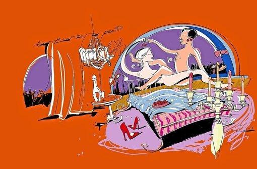 """Von Michael Luz stammen die Zeichnungen für das Buch """"Geht Liebe durch den Magen?"""" Foto: Zeichnung: Michael Lutz"""
