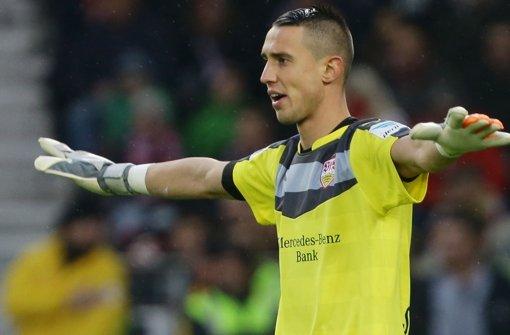 Odisseas Vlachodimos absolvierte beim VfB Stuttgart in dieser Saison bisher drei Einsätze.  Foto: Pressefoto Baumann