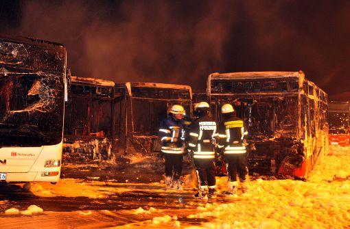 Millionenschaden bei Großbrand in Busdepot