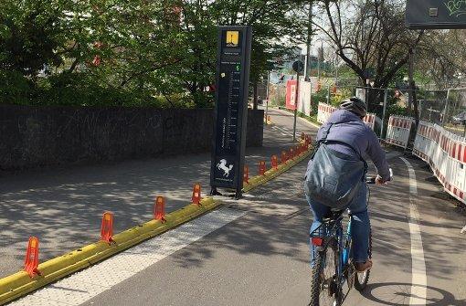 Neues Fahrradbarometer in Betrieb