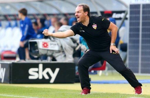 Der Stuttgarter Cheftrainer heißt im Oktober noch Alexander Zorniger.  Foto: Getty