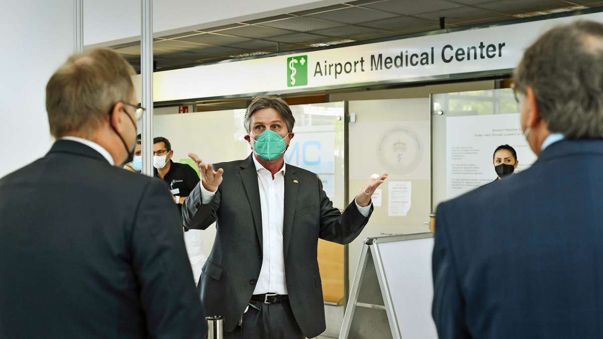 Modellversuch am Stuttgarter Airport Flughafen Betriebsärzte ...