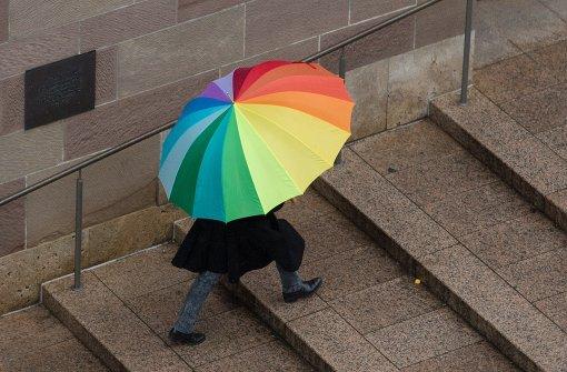 Es muss am Sonntag nicht regnen, aber die Wahrscheinlichkeitr steigt. Foto: dpa