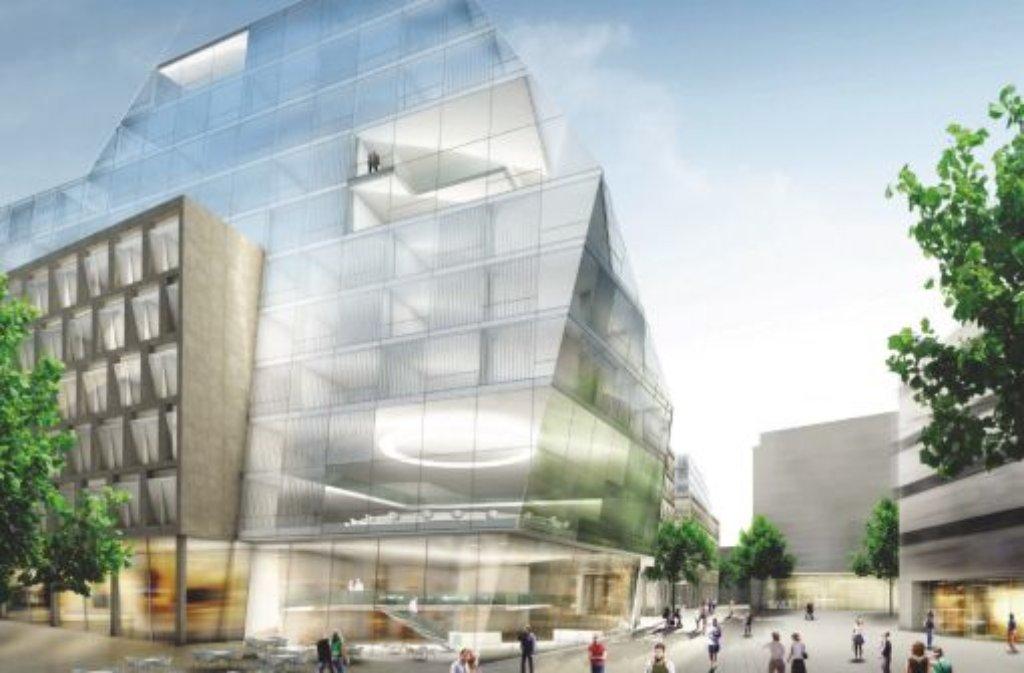 Mit diesem entwurf sind behnisch architekten und breuninger im m rz 2010 ins rennen gegangen - Architekten kreis ludwigsburg ...