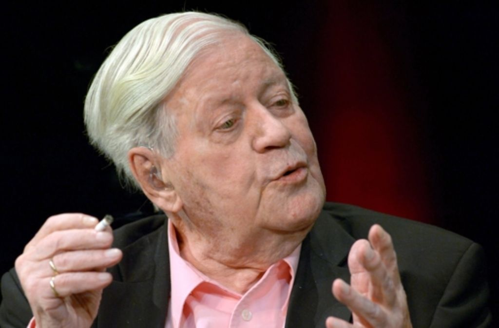 Altkanzler Helmut Schmidt Ist Im Alter Von  Jahren Gestorben Foto Dpa