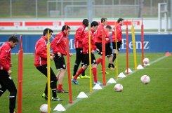 Klicken Sie sich durch unsere Bildergalerie zum VfB-Training. Foto: Michele Danze