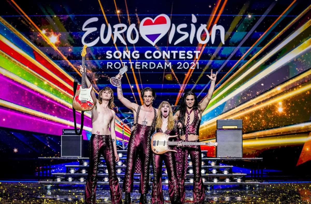 Eurovision Song Contest in Rotterdam Hardrock aus Italien gewinnt ...