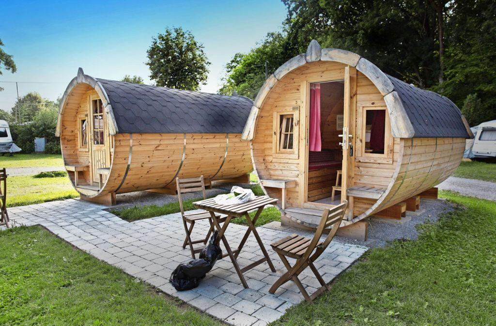 Camping im Kreis Göppingen: Übernachten im Fass ist beliebt ...