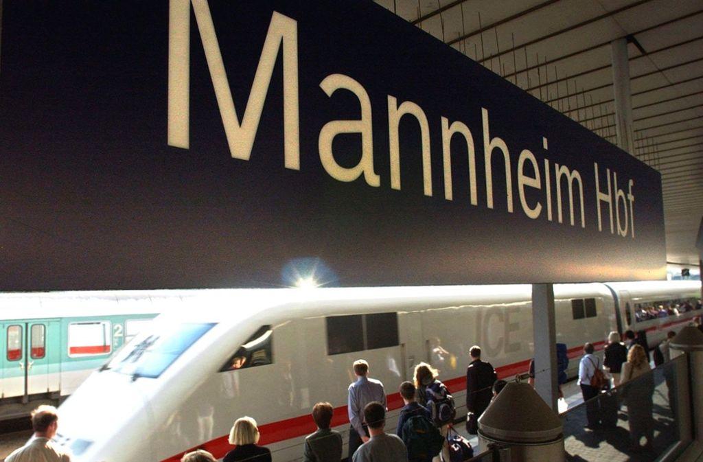 Deutsche Bahn Bahnstrecke Zwischen Frankfurt Und Mannheim Gesperrt