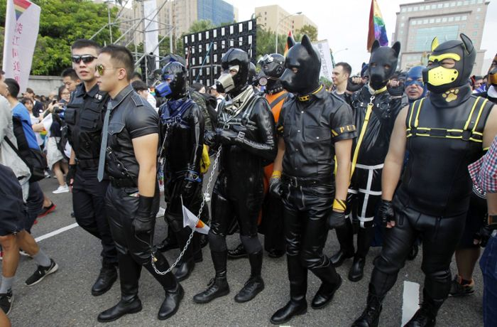 Gay-Pride-Parade in Taiwan: So ausgefallen demonstrieren Homosexuelle in Taipeh