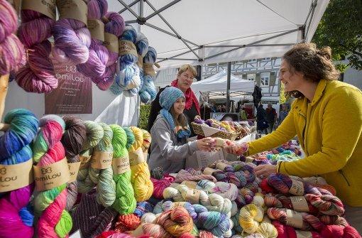 Die Marktstadt hüllt sich in Wolle