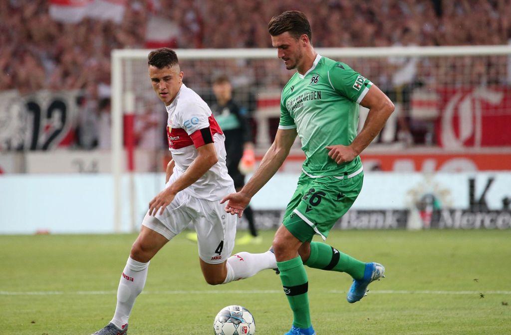 Kapitän Marc Oliver Kempf gewann mit dem VfB das Hinspiel gegen Hannover
