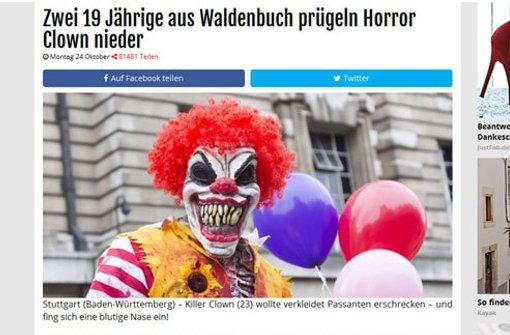 Vorsicht bei falschen Meldungen zu Horror-Clowns