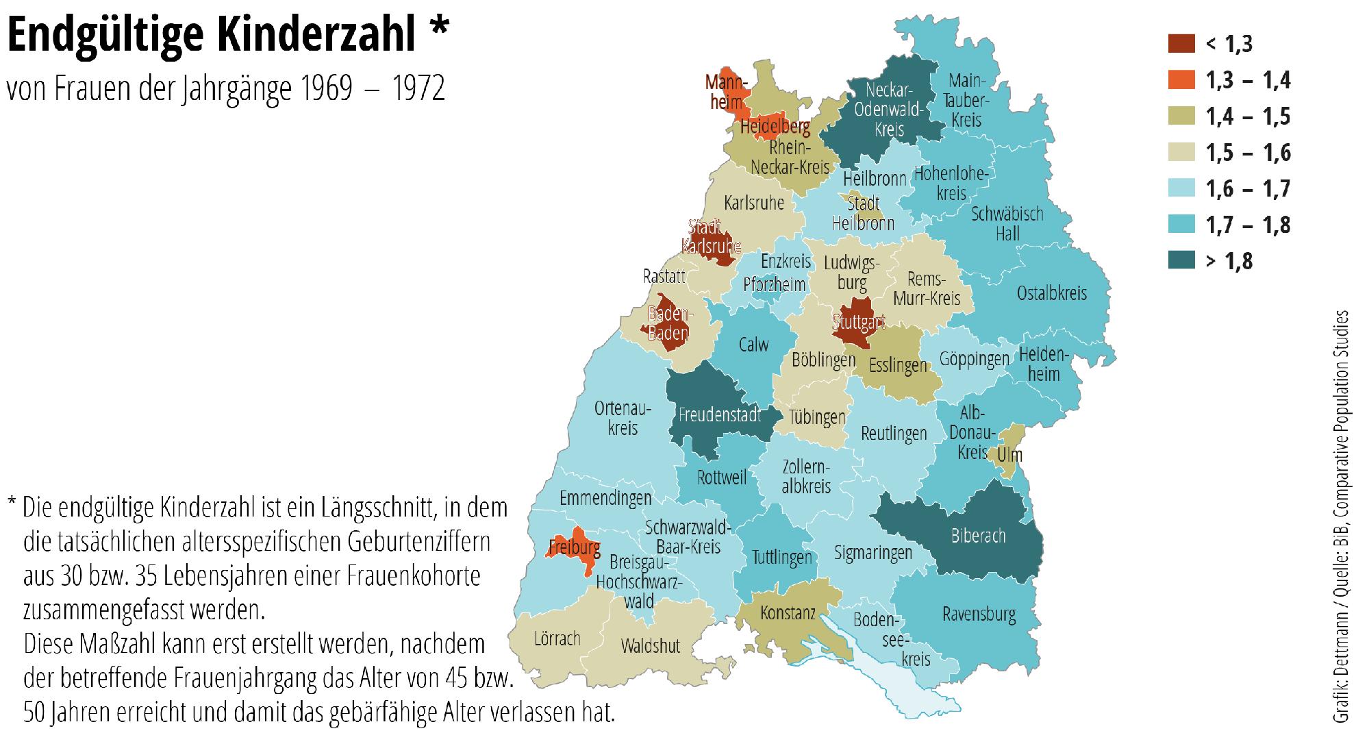 Großstädte Baden-Württemberg