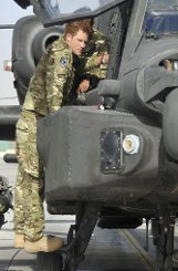 Prinz Harry in Afghanistan.br Foto: AP