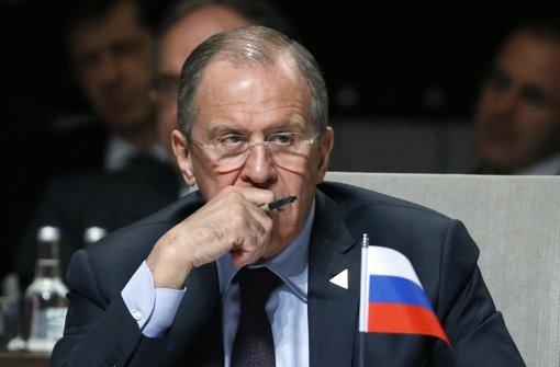 Fordert Aufklärung: Russlands Außenminister Sergej Lawrow Foto: Getty Images Europe